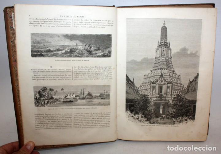 Libros antiguos: LA VUELTA AL MUNDO,DE GASPAR Y ROIG- 6 TOMOS-MADRID-1868. - Foto 7 - 136484446