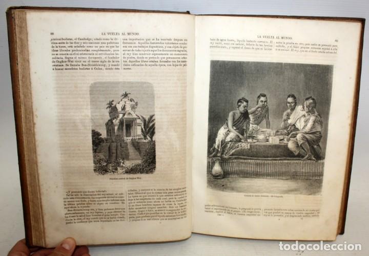 Libros antiguos: LA VUELTA AL MUNDO,DE GASPAR Y ROIG- 6 TOMOS-MADRID-1868. - Foto 14 - 136484446