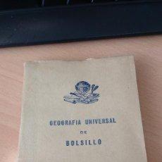 Libros antiguos: GEOGRAFÍA UNIVERSAL DE BOLSILLO. Lote 136686570