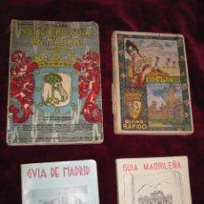Libros antiguos: 4 GUIAS DE MADRID: 1929, 1931, 1936 Y 1961. CON MUCHAS ILUSTRACIONES, FOTOS Y PLANOS. RARAS . Lote 137124910