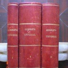 Libros antiguos: GEOGRAFÍA UNIVERSAL, POR EMILIO DE MEDRANO. TRES TOMOS. AÑO 1888. (10.7). Lote 137955898