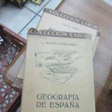 Libros antiguos: LIBRO GEOGRAFÍA DE ESPAÑA I 2ª EDICION LABOR SEC VII GEOGRAFÍA Nº144 L-11649-910. Lote 138577730