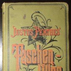 Libros antiguos: JUSTUS PERTHES. ATLAS PORTÁTIL DEL MUNDO. TASCHEN-ATLAS. ORIGINAL DE 1913.. Lote 139569938