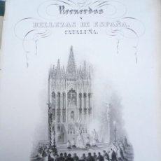 Libros antiguos: RECUERDOS Y BELLEZAS DE ESPAÑA. PRINCIPADO DE CATALUÑA. 1839. GRABADOS DE F. J. PARCERISA. Lote 210717234