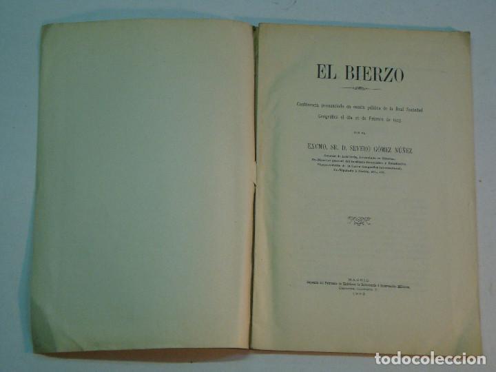 Libros antiguos: Severo Gómez Núñez: El Bierzo (1928) - Foto 3 - 140194186