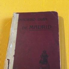 Libros antiguos: ATENCIÓN COLECCIONISTAS ANTIGUO LIBRO NOTICIERO GUÍA DE MADRID 1911 CONTIENE EL DIFICILÍSIMO MAPA. Lote 140562066