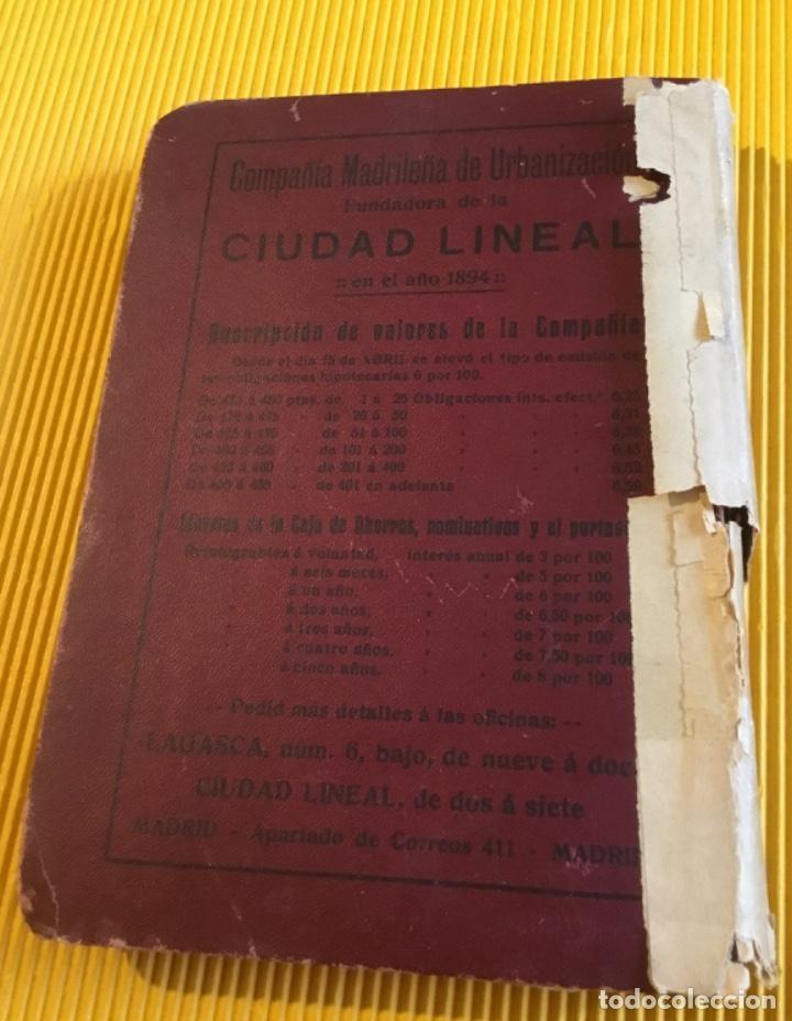 Libros antiguos: Atención coleccionistas antiguo libro noticiero guía de Madrid 1911 contiene el dificilísimo mapa - Foto 2 - 140562066