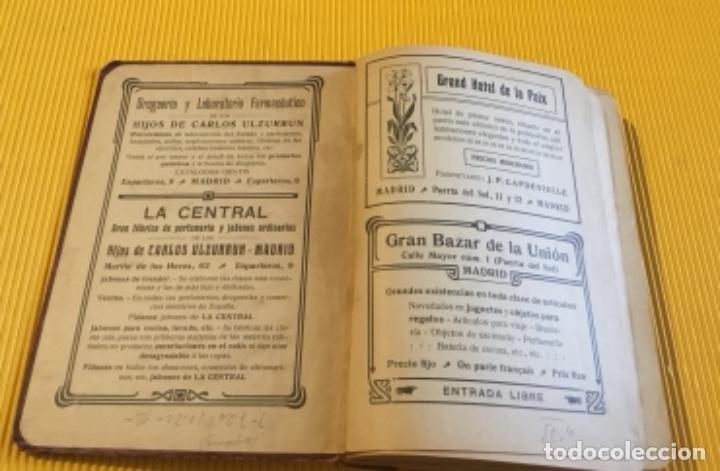Libros antiguos: Atención coleccionistas antiguo libro noticiero guía de Madrid 1911 contiene el dificilísimo mapa - Foto 4 - 140562066