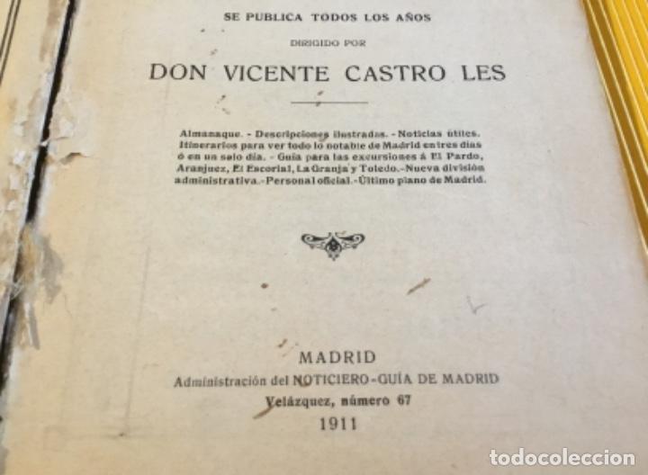 Libros antiguos: Atención coleccionistas antiguo libro noticiero guía de Madrid 1911 contiene el dificilísimo mapa - Foto 6 - 140562066