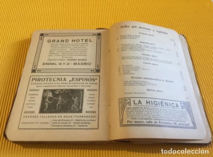 Libros antiguos: Atención coleccionistas antiguo libro noticiero guía de Madrid 1911 contiene el dificilísimo mapa - Foto 11 - 140562066