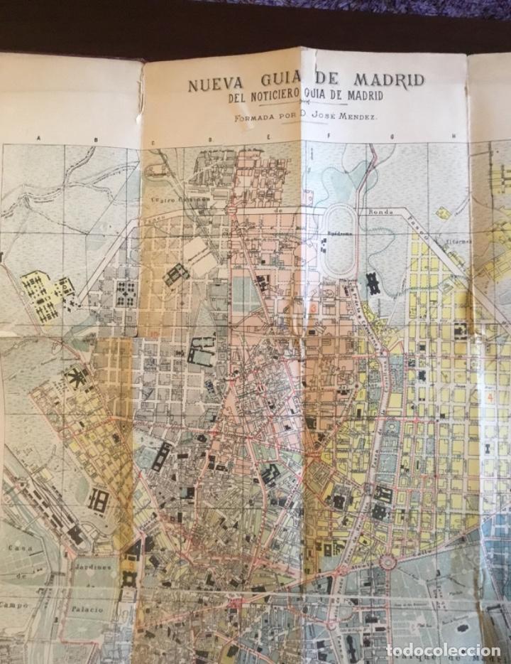 Libros antiguos: Atención coleccionistas antiguo libro noticiero guía de Madrid 1911 contiene el dificilísimo mapa - Foto 14 - 140562066