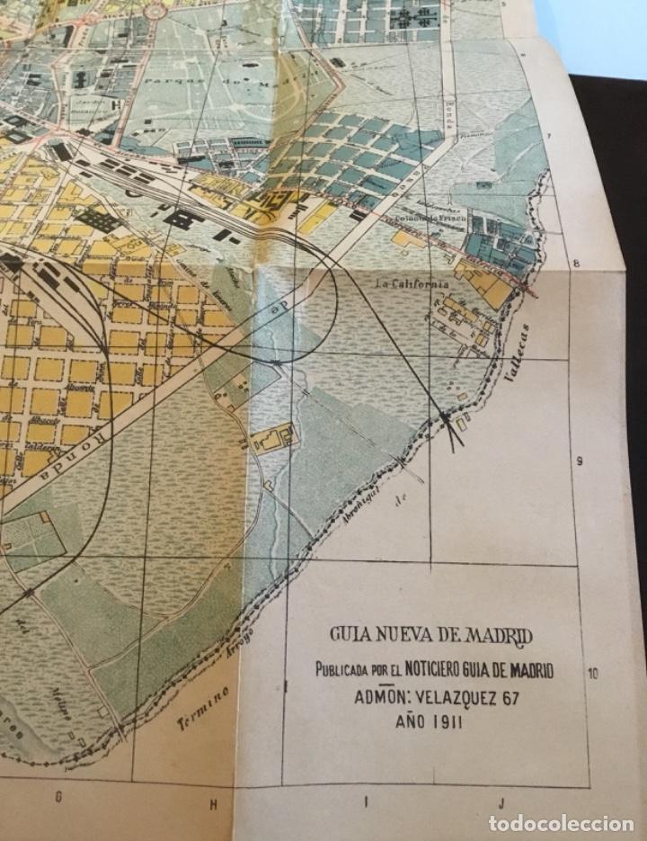 Libros antiguos: Atención coleccionistas antiguo libro noticiero guía de Madrid 1911 contiene el dificilísimo mapa - Foto 15 - 140562066