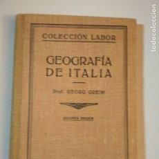Libros antiguos: GEOGRAFIA DE ITALIA - COLECCIÓN LABOR Nº 148. Lote 141599898