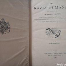 Libros antiguos: LAS RAZAS HUMANAS FEDERICO EDITORIAL MONTANER I SIMÓN AÑO 1889. Lote 142423576