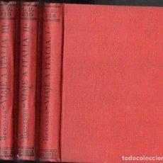 Libros antiguos: BROSSES : VIAJE A ITALIA - TRES TOMOS (CALPE, 1923). Lote 143608874