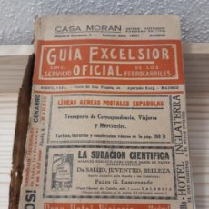 Libros antiguos: GUÍA OFICIAL EXCELSIOR FERROCARRILES 1935 ITINERARIOS COSTE PUBLICIDAD ESPAÑA VIAJE HISTORIA TIEMPO. Lote 144274642