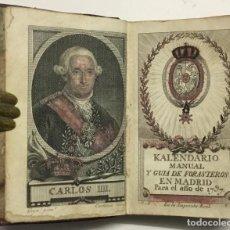 Libros antiguos: KALENDARIO MANUAL Y GUIA DE FORASTEROS EN MADRID PARA EL AÑO DE 1797.. Lote 123145932