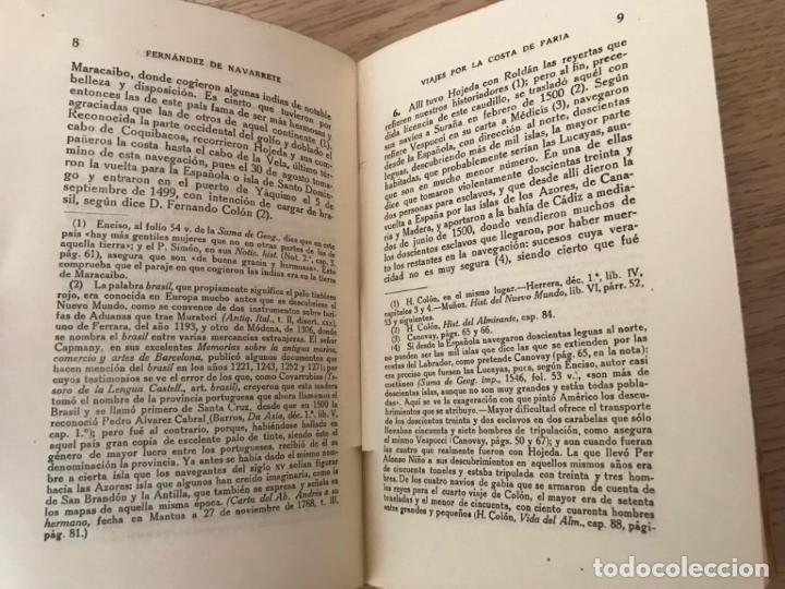 Libros antiguos: VIAJES ESPAÑOLES POR LA COSTA DE PARIA Nº 25. NAVARRETE - Foto 2 - 147021118