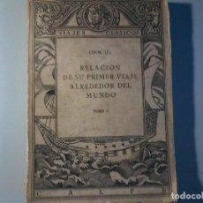 Libros antiguos: RELACION DE SU PRIMER VIAJE ALREDEDOR DEL MUNDO - JAMES COOK - TOMO II -CALPE 1922. Lote 147052482