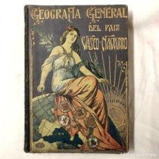 Libros antiguos: GEOGRAFIA GENERAL DEL PAIS VASCO-NAVARRO PROVINCIA ALAVA CARRERAS Y CANDI VICENTE VERA VITORIA VASCO. Lote 151676558