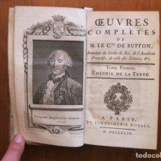 Libros antiguos: HISTOIRE NATURELLE, ..., 2 TOMOS, 1774. BUFFON. CON GRABADOS Y MAPAS DESPLEGABLES. Lote 152341920