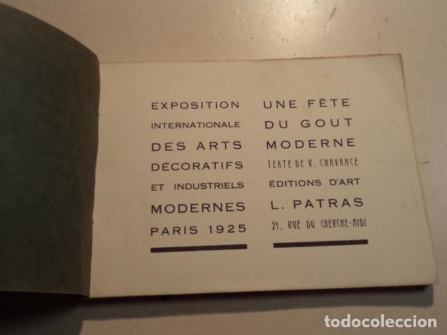 Libros antiguos: ALBUM SOUVENIR DE LEXPOSITION INTERNACIONALE DES ARTS DÉCORATIFS - PARIS 1925 - TEXTE DE CHAVANGE - Foto 2 - 153227906