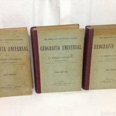 Libros antiguos: GEOGRAFÍA UNIVERSAL SIGLO XIX. EMILIO MEDRANO. 3 TOMOS (COMPLETOS) GRABADOS DE DORÉ Y OTROS. Lote 153268133