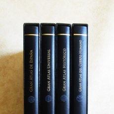 Libros antiguos: GRAN ATLAS DE ESPAÑA ATLAS CUERPO HUMANO ATLAS HISTORICO ATLAS UNIVERSAL EBRISA GRAN FORMATO. Lote 105584115