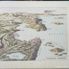 Libros antiguos: 1922 - GEOGRAFÍA Y ATLAS - ANTIGUO ATLAS ESCOLAR ILUSTRADO CON FIGURAS Y MAPAS EN COLORES - APAISADO. Lote 154922206