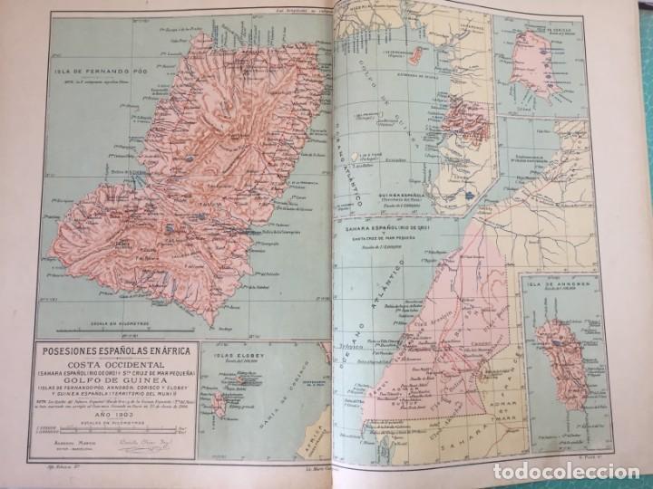 Libros antiguos: ATLAS GEOGRÁFICO IBEROMERICANO; ÉSPAÑA Y SUS POSESIONES DE ÁFRICA 1903 - CHÍAS Y CARBÓ - Foto 8 - 155215082