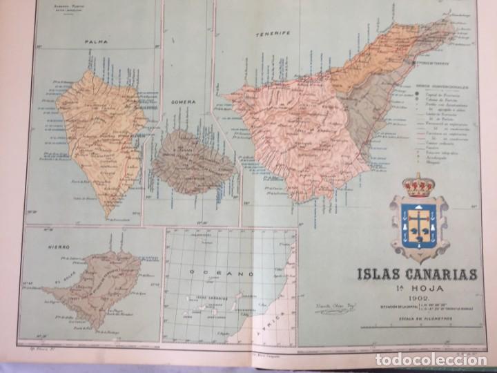 Libros antiguos: ATLAS GEOGRÁFICO IBEROMERICANO; ÉSPAÑA Y SUS POSESIONES DE ÁFRICA 1903 - CHÍAS Y CARBÓ - Foto 11 - 155215082