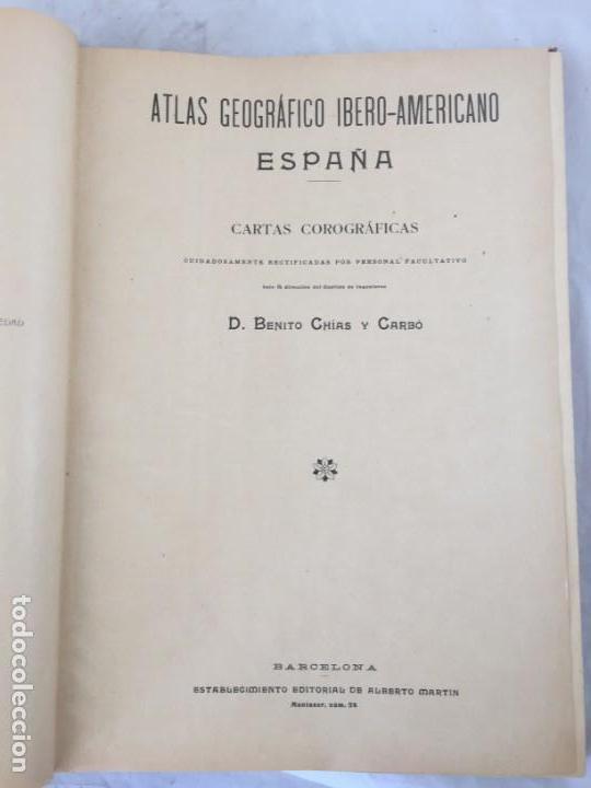 ATLAS GEOGRÁFICO IBEROMERICANO; ÉSPAÑA Y SUS POSESIONES DE ÁFRICA 1903 - CHÍAS Y CARBÓ (Libros Antiguos, Raros y Curiosos - Geografía y Viajes)