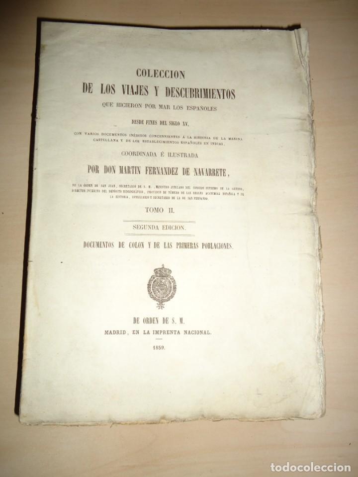 AMÉRICA COLECCIÓN DE LOS VIAJES Y DESCUBRIMIENTOS. T. II. MARTÍN FERNÁNDEZ DE NAVARRETE (Libros Antiguos, Raros y Curiosos - Geografía y Viajes)