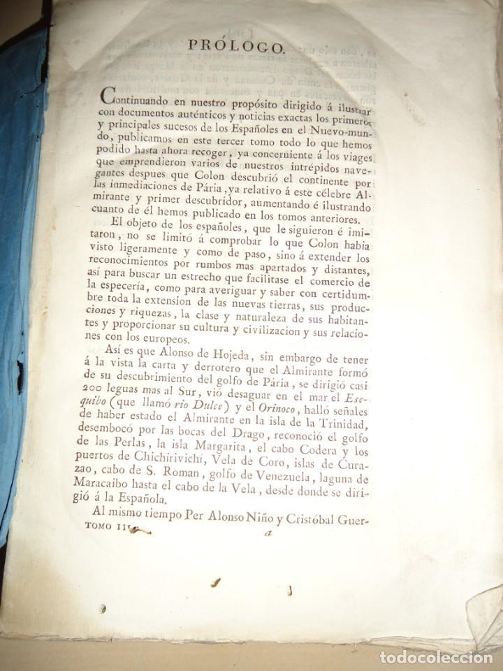 Libros antiguos: AMÉRICA COLECCIÓN DE LOS VIAJES Y DESCUBRIMIENTOS. t. III. Martín Fernández de Navarrete - Foto 2 - 155312478