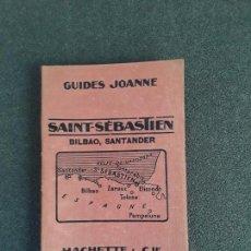 Libros antiguos: (VIAJES) SAN SEBASTIÁN. BILBAO, SANTANDER. GUIDES JOANNE.. Lote 155646690