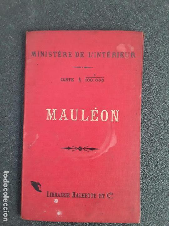 (MAPA. PAIS VASCO) MAPA DE MAULÉON DEL MINISTERIO DEL INTERIOR DE FRANCIA. (Libros Antiguos, Raros y Curiosos - Geografía y Viajes)