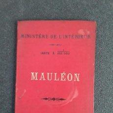 Libros antiguos: (MAPA. PAIS VASCO) MAPA DE MAULÉON DEL MINISTERIO DEL INTERIOR DE FRANCIA.. Lote 155647942