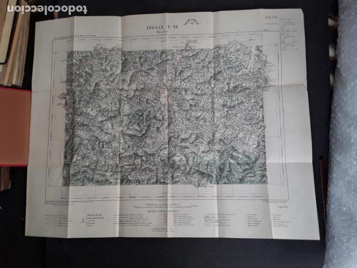 Libros antiguos: (Mapa. Pais Vasco) Mapa de Mauléon del Ministerio del Interior de Francia. - Foto 2 - 155647942