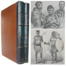 Libros antiguos: 1888 - ETNOGRAFÍA, ANTROPOLOGÍA. LAS RAZAS HUMANAS - RATZEL - APRECIADA OBRA ILUSTRADA, FOLIO 32 CM.. Lote 155811334