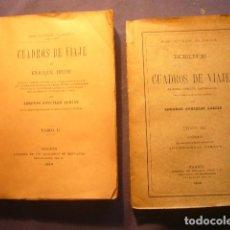 Libros antiguos: HEINRICH HEINE: - CUADROS DE VIAJE - (TOMOS II Y III) - (MADRID, 1906). Lote 157022750