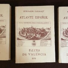 Libros antiguos: ATLANTE ESPAÑOL-REINO DE VALENCIA-3-PARTE I-II-III(90€). Lote 157329962