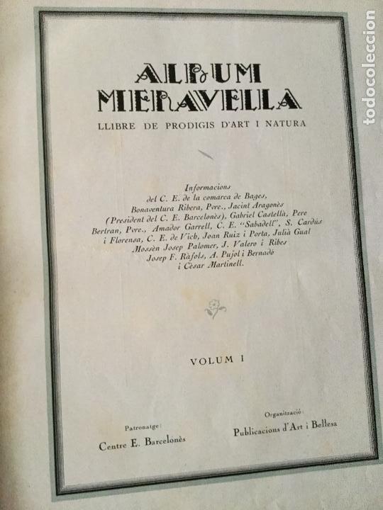 Libros antiguos: Album meravella I. Comarques d interior. 27x20cm. 326 p. - Foto 2 - 160768902