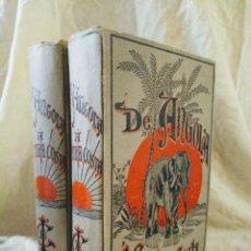 Libros antiguos: DE ANGOLA A CONTRA COSTA - CACERIAS AFRICA AÑO 1886 - CAPELLO.IVENS. - GRABADOS.. Lote 161702110