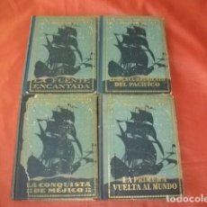 Libros antiguos: LOTE LOS GRANDES EXPLORADORES ESPAÑOLES TOMOS I, II, III Y VII (SEIX BARRALL 1924-1936). Lote 161763602