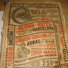 Libros antiguos: GUIA GENERAL DE FERROCARRILES . AÑO 1926 . SERVICIO OFICIAL - DEFECTUOSO Nº 403 PUBLICIDAD. Lote 162981722