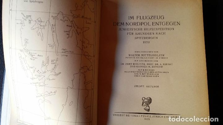 Libros antiguos: Walter MITTELHOLZER, Expedición aerea al ARTICO, 1925, MUY RARO, Amundsen - Foto 2 - 163339238