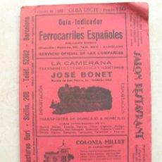 Libros antiguos: GUÍA-INDICADOR DE LOS FERROCARRILES ESPAÑOLES.GUIA RICH. FEBRERO DE 1932.. Lote 165664086