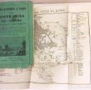 Libros antiguos: COLPO D'OCCHIO A ROMA 1862. (GUIA DE ROMA 1862. XILOGRAFÍAS Y UN PLANO PLEGADO DE LA CIUDAD. Lote 167362380