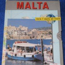 Libros antiguos: MALTA - MAPA Y GUÍA DE VIAJE - KONEMANN (1996). Lote 168318000