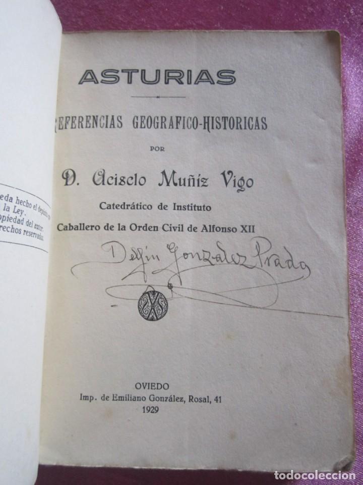 Libros antiguos: GUIA ASTURIAS DIVULGACIONES GEOGRAFICO HISTORICAS MUÑIZ VIGO AÑO 1929. - Foto 2 - 169284588